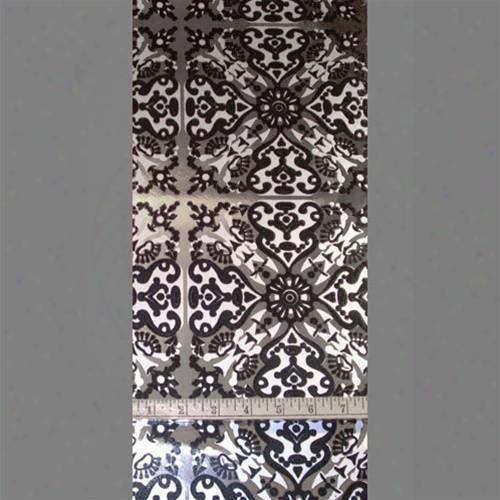 Black, Silver Matte &zmp; Silver Mylar Helena Velvet Flocked Wallpaper Design By Burke Decor