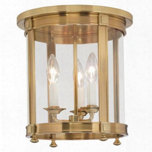 Blake Flush Mount In Antique Brass Design By Jonathan Adler