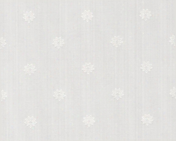 Small Prints Classic Wallpaper In Cream And White Design By Bd Wall