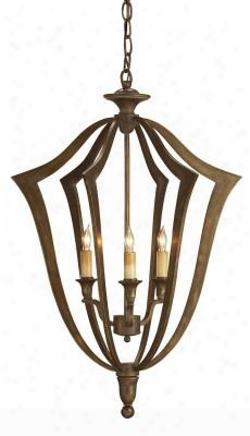 Small Protocol Chandelier Design By Currey & Company