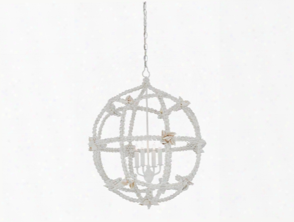 Small Seaforth Orb Chandelier In Gesso White Design By Currey & Company