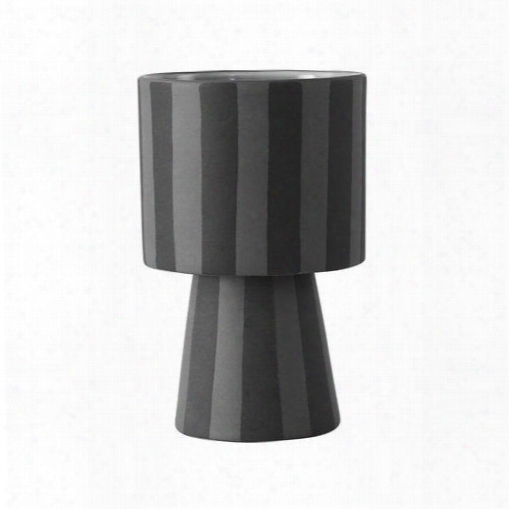 Small Toppu Pot In Grey & Asphalt Design By Oyoy