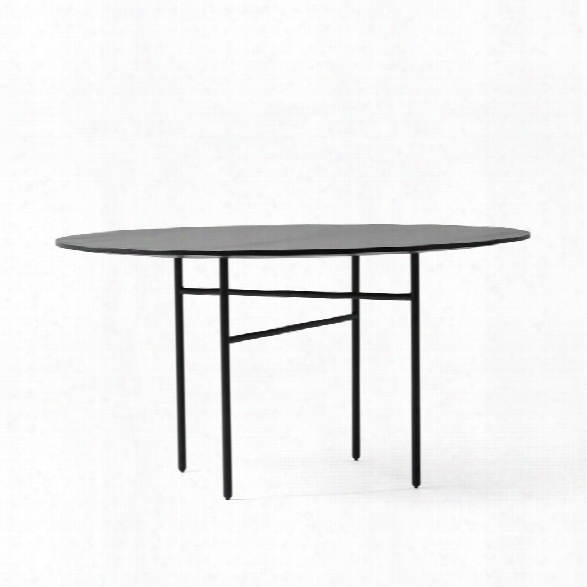 "Snaregade 47"" Round Dining Table In Black Veneer Design By Menu"