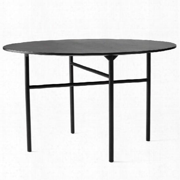 "Snaregade 54"" Round Table In Black Veneer Design By Menu"