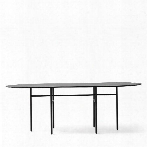 Snaregade Oval Dining Table In Black Veneer Design By Menu