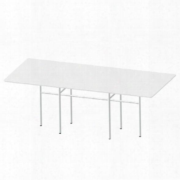 Snaregade Rectangular Table In White Laminate Design By Menu