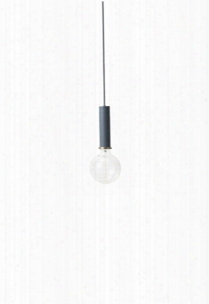 Socket Pendant High In Dark Blue Design By Ferm Living