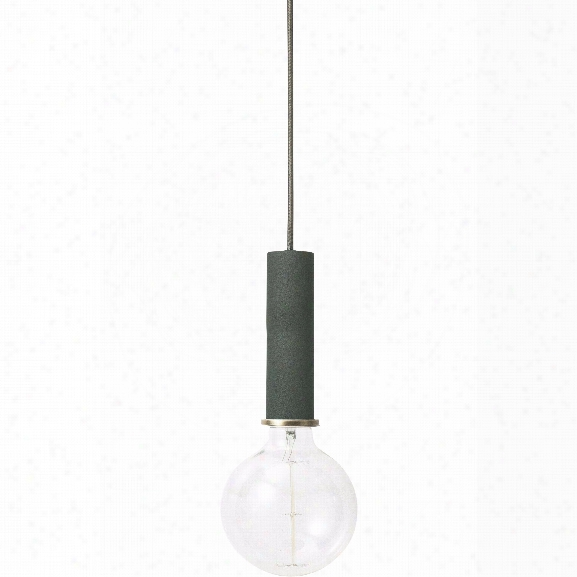 Socket Pendant High In Dark Green Design By Ferm Living
