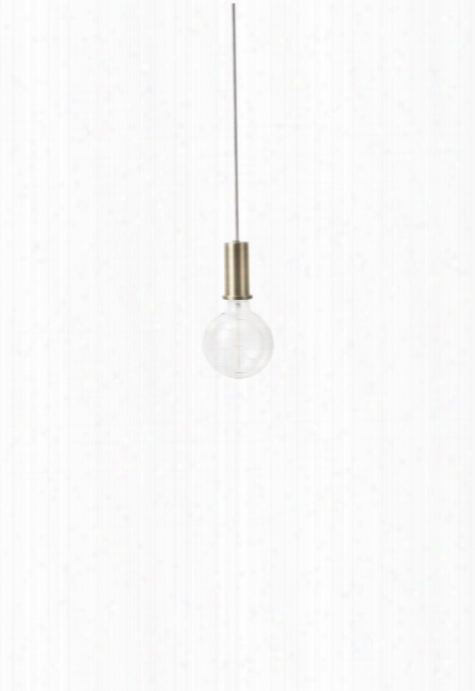 Socket Pendant Low In Brass Design By Ferm Living