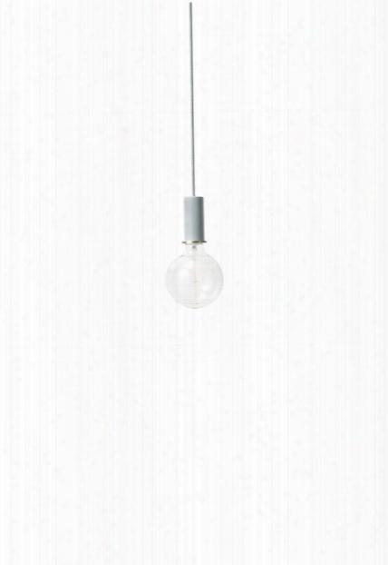 Socket Pendant Low In Dusty Blue Design By Ferm Living