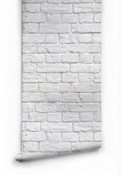 Soft White Bricks Boutique Faux Wallpaper Design By Milton & King