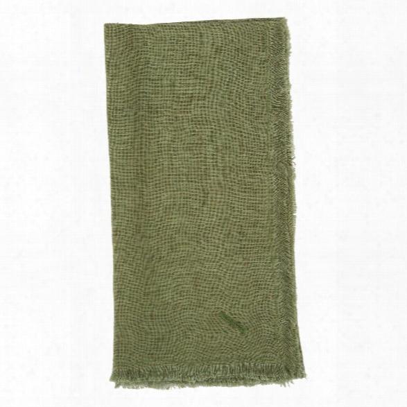 Solid Linen Napkins Set Of 4 In Fern Design By Sir/madam