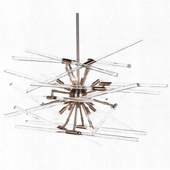 Solitude Chandelier In Nickel Design By Aidan Gray