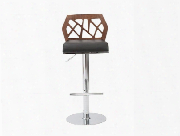 Sophia Bar/counter Stool In Walnut & Black Design By Euro Style