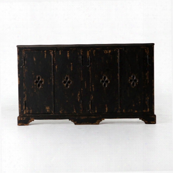 Soren 4 Door Sideboard In Burnt Black