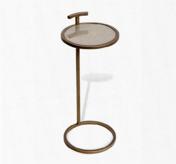 Soren Circle Drink Table In Shagreen Design By Interlude Home