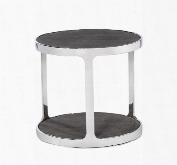 Soto Round Side Table In Charcoal Ceruse Design By Interlude Home