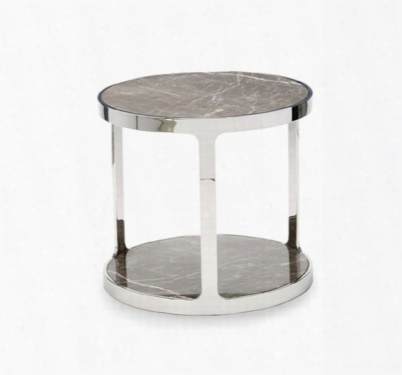 Soto Round Side Table In Marble Design By Interlude Home