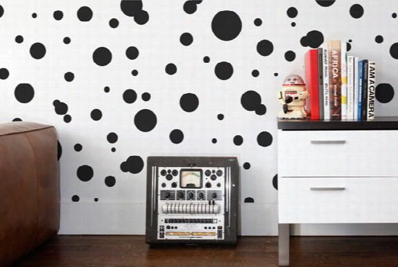 Space Dots Wallpaper In Noir Design By Aimee Wilder