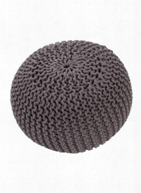 Spectrum Pouf In Steele Gray Design By Jaipur