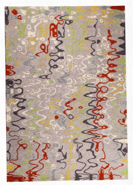 Spia Collection Hand Tufted Wool And Viscose Area Rug In Grey And Multi Design By Mat The Basics