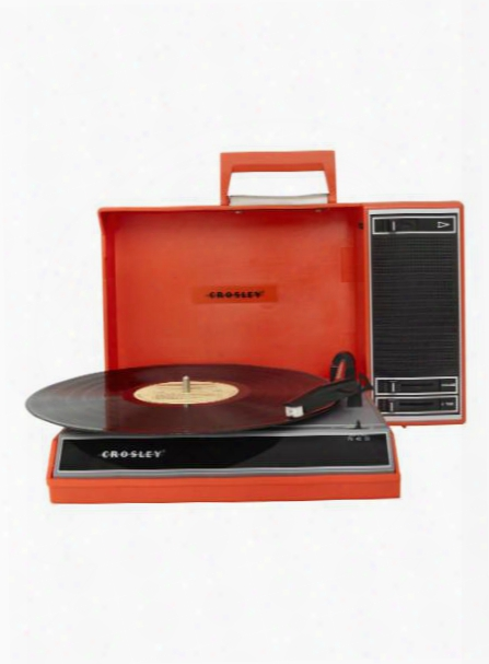 Spinnerette Portable Usb Turntable In Red Design By Crosley