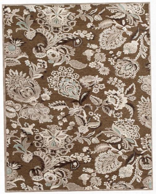Spirit Collection Multi-textured Art Silk Area Rug In Brown & Grey Design By Bd Fine