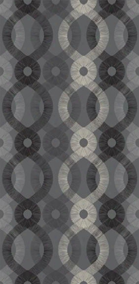 Spiro Wallpaper In Charcoal And Multi Design By Kreme