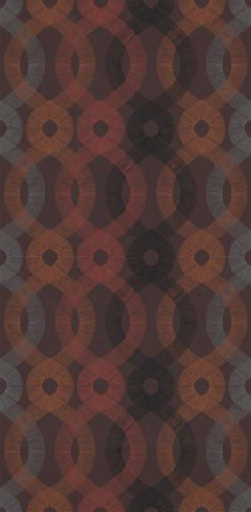Spiro Wallpaper In Chocolate Multi Design By Kreme