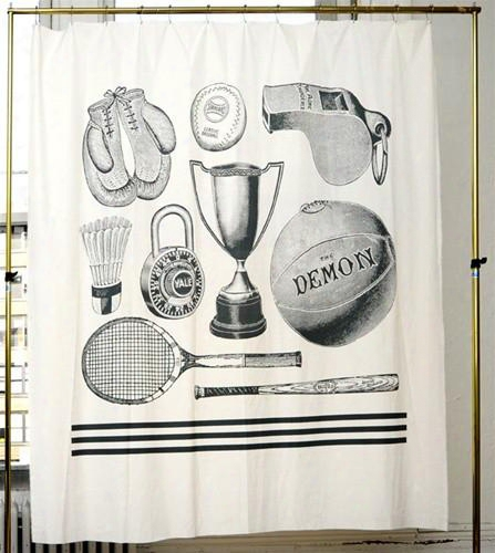 Sport Shower Curtain Design By Izola