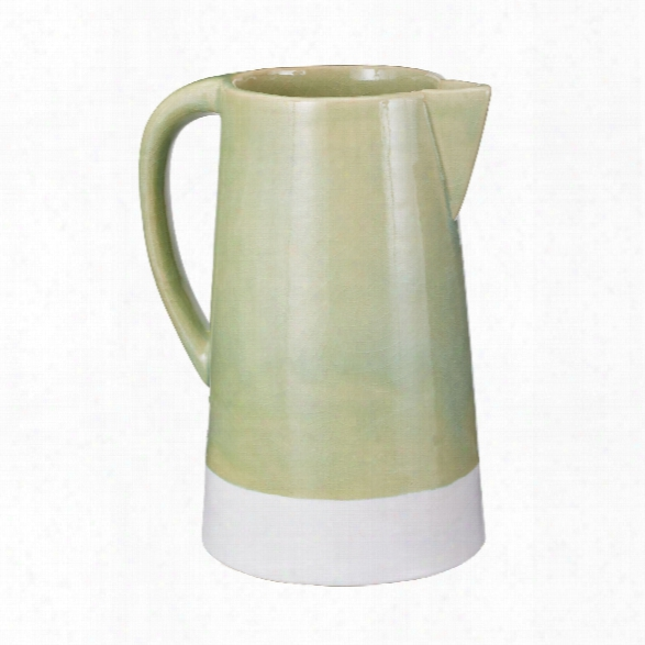 Spring Crackle Pitcher Design By Lazy Susan