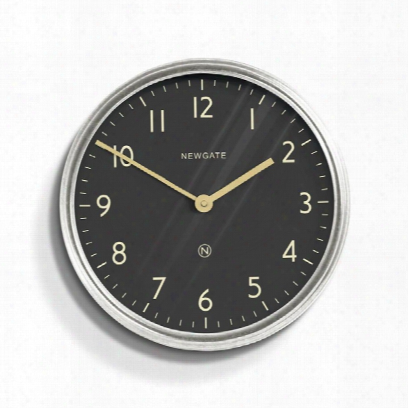 Spy Wall Clock In Galvanized Design By Newgate