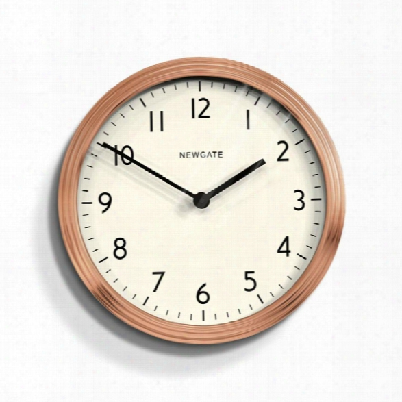 Spy Wall Clock In Radial Copper Design By Newgate
