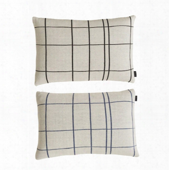 Square Cushion In White & Black Design By Oyoy