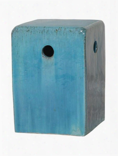 Square Garden Stool In Blue Design By Emissary