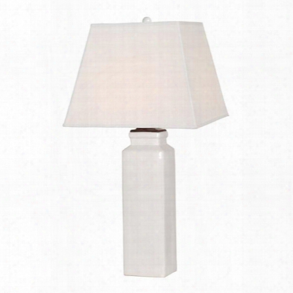Square Vase Lamp In White Design By Emissary