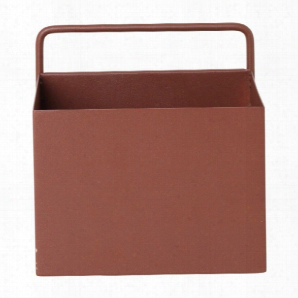 Square Wall Box In Red Brown Design By Ferm Living