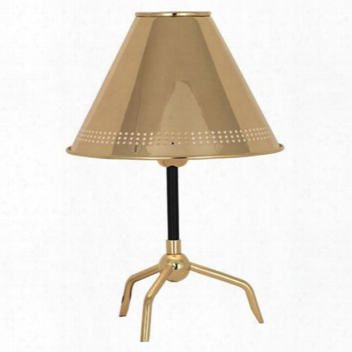 St Germain Accent Lamp In Polished Brass W/ Black Accents Design By Jonathan Adler