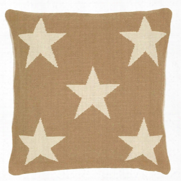 Star Camel/ivory Indoor/outdoor Pillow Design By Fresh American