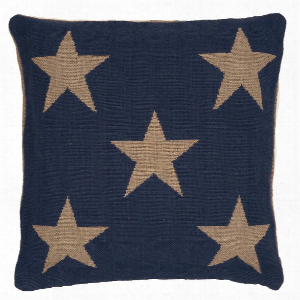 Star Navy/camel Indoor/outdoor Pillow Design By Fresh American