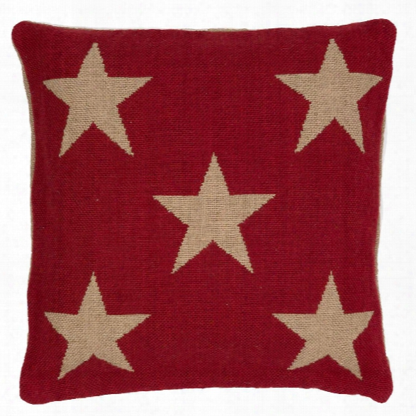 Star Red/camel Indoor/outdoor Pillow Design By Fresh American