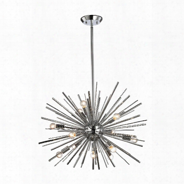 Starburst 12 Light Pendant In Chrome Design By Bd Fine