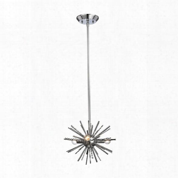 Starburst 3 Light Pendant In Chrome Design By Bd Fine