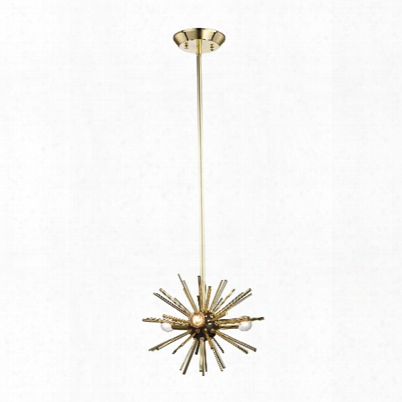 Starburst 3 Light Pendant In Gold Design By Bd Fine