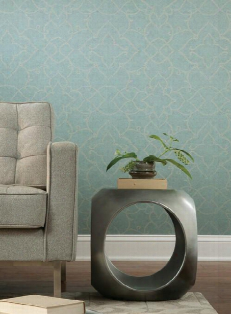 Starling Wallpaper In Soft Blue Design By Carey Lind For York Wallcoverings