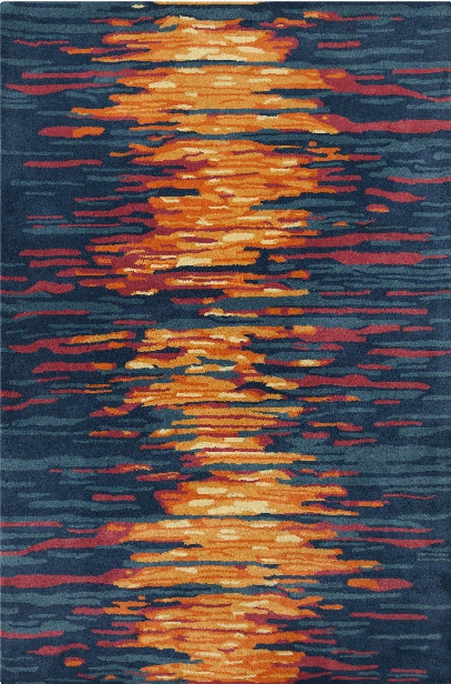 Stella Collectioon Hand-tufted Area Rug In Blue, Red, & Orange Design By Chandra Rugs