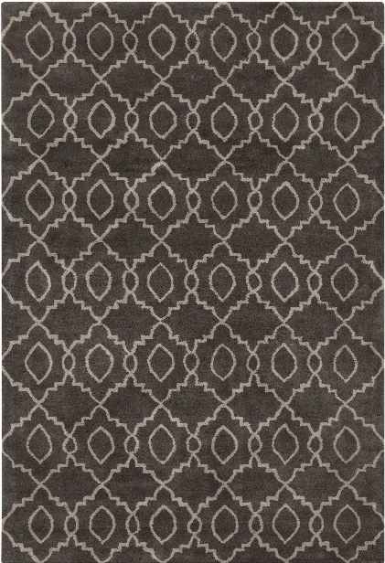 Stella Collection Hand-tufted Area Rug In Charcoal & Cream Design By Chandra Rugs