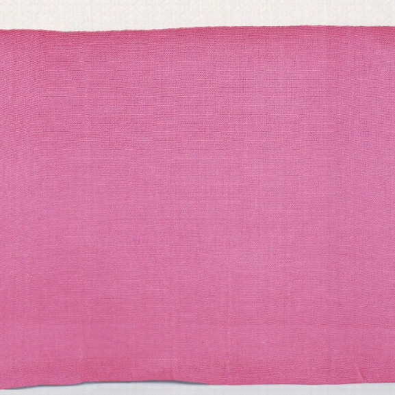 Stone Washed Linen Fuchsia Tailored Paneled Bed Skirt Design By Pine Cone Hill