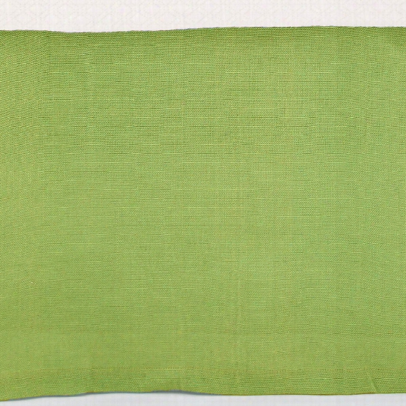 Stone Washed Linen Green Tailored Paneled Bed Skirt Design By Pine Cone Hill