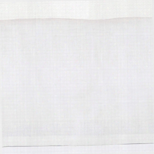 Stone Washed Linen White Tailored Paneled Bed Skirt Design By Pine Cone Hill